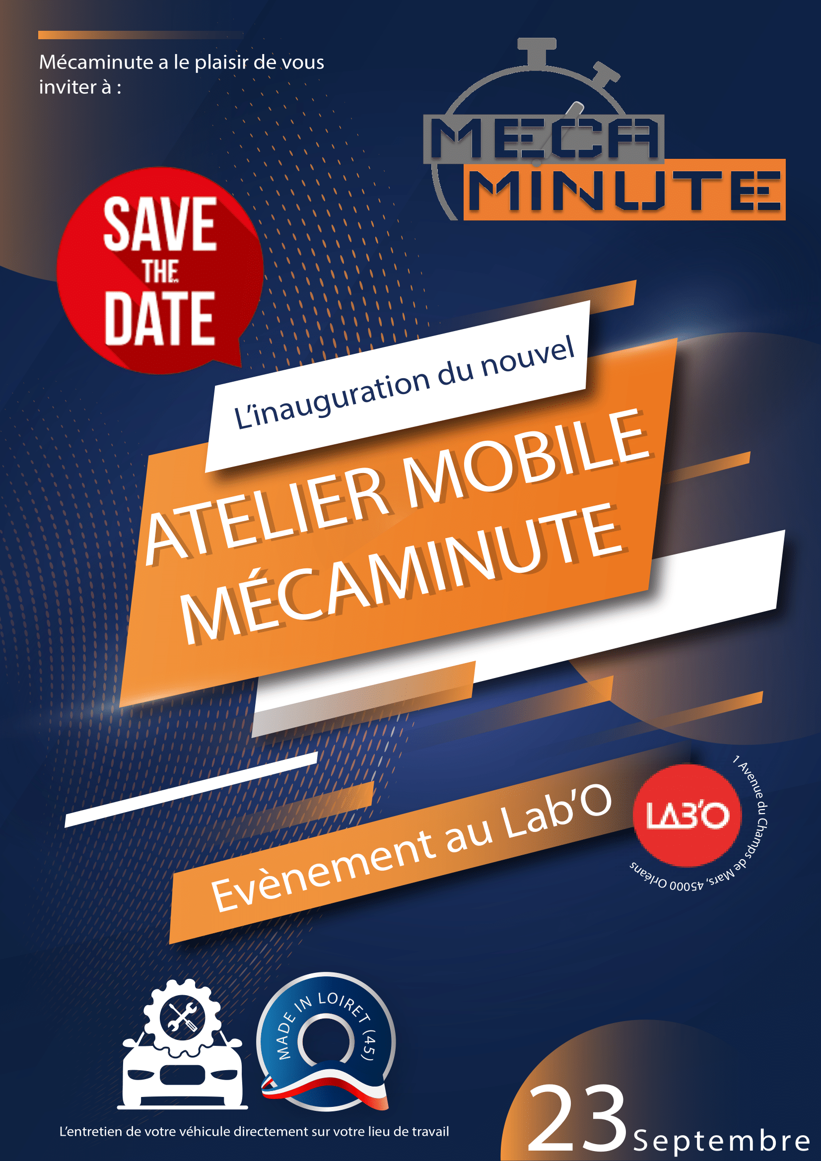 Inauguration Mécaminute V2 save the date-1